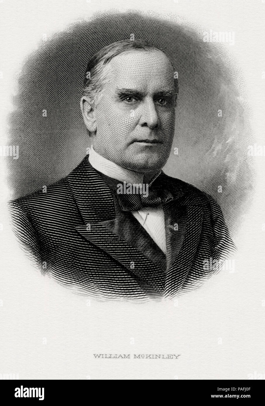 President William McKinley Engraved Portrait - Stock Image