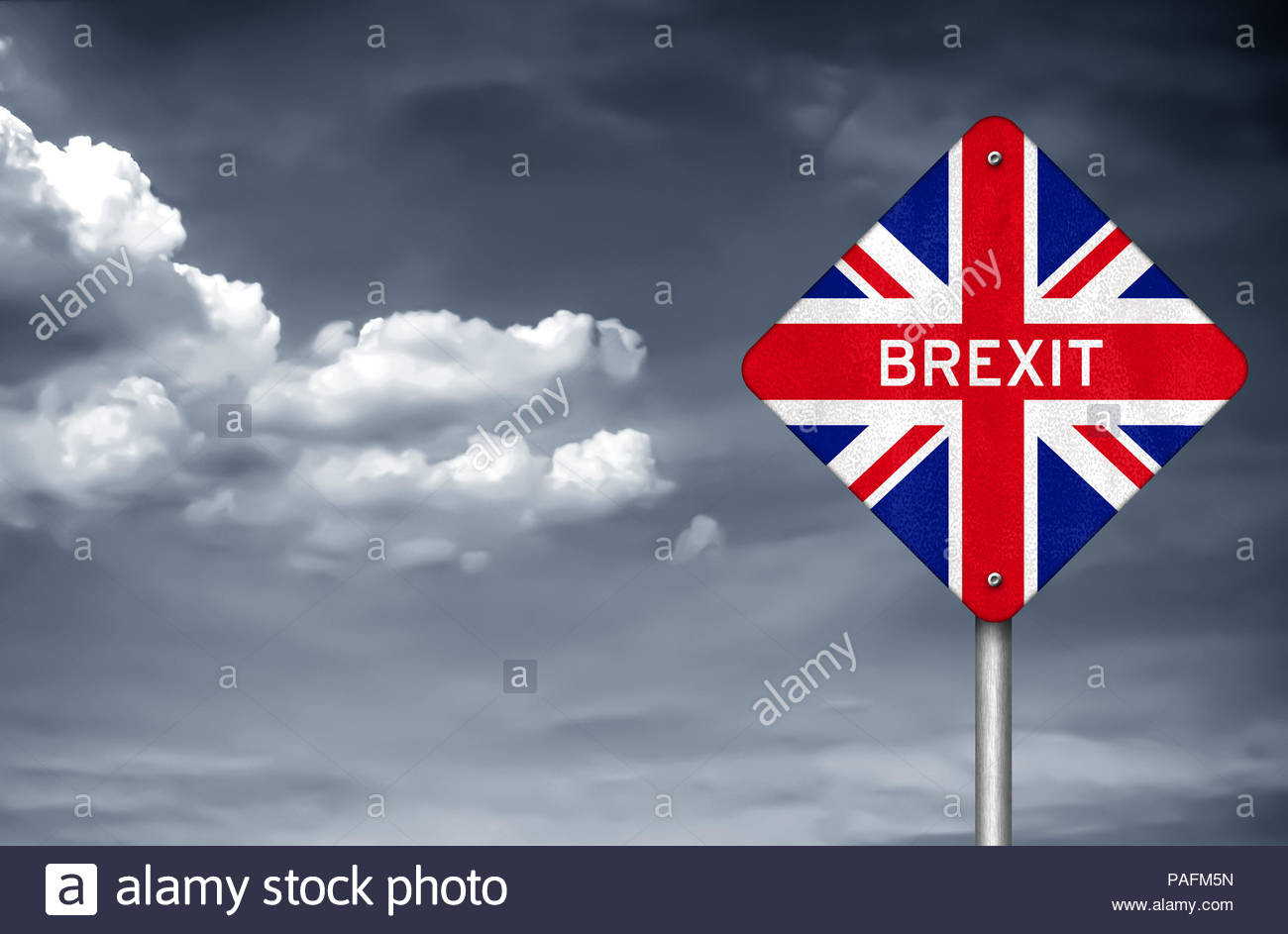 Brexit - withdrawal United Kingdom from the European Union - Stock Image