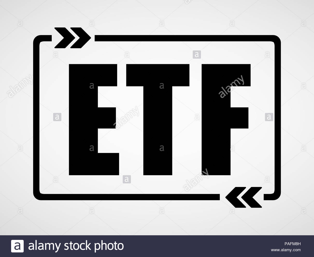 ETF - Exchange-traded fund concept Stock Photo