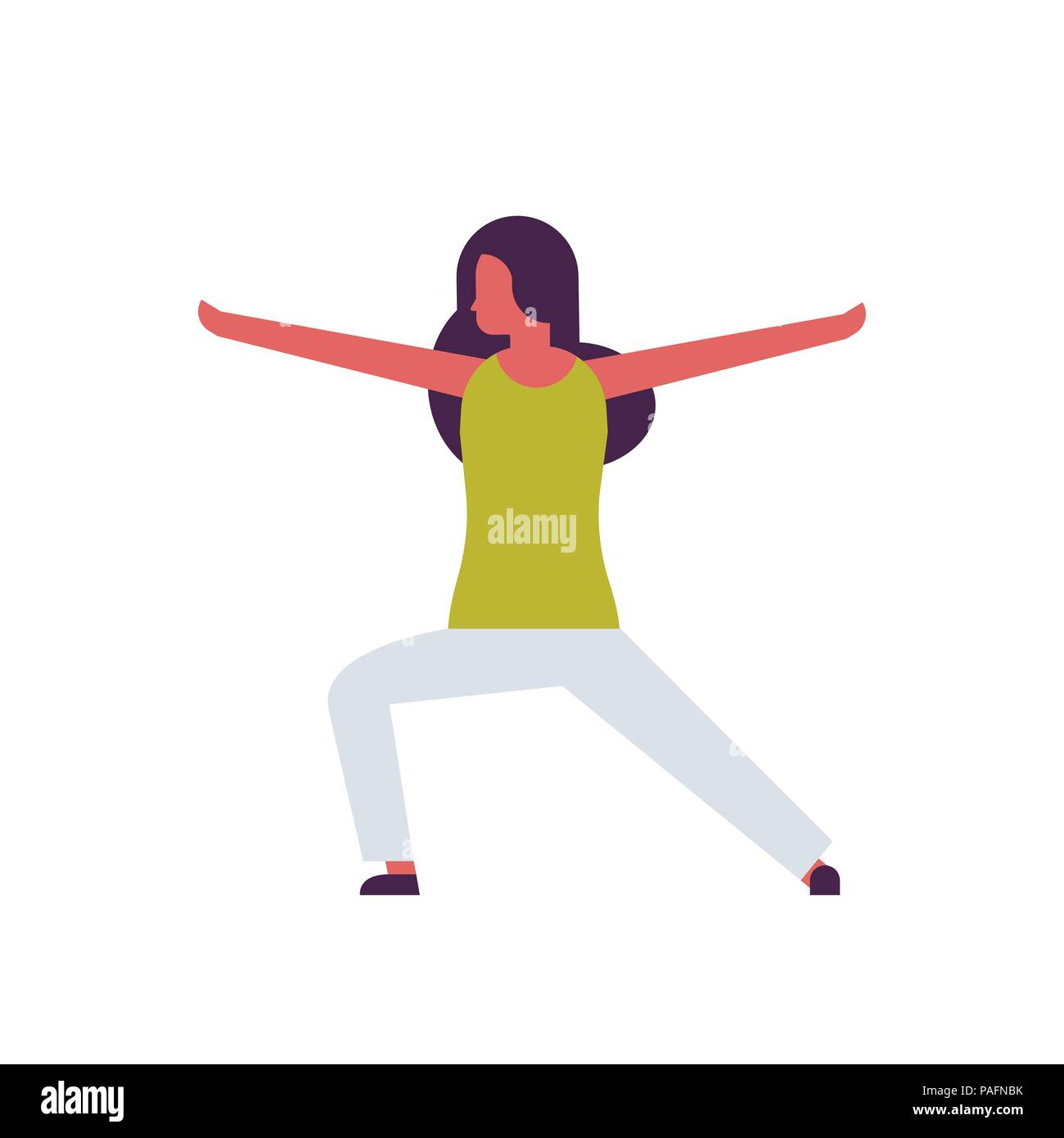 Woman Doing Yoga Exercises Female Cartoon Character Fitness Activities Isolated Diversity Poses Healthy Lifestyle Concept Full Length Flat Stock Vector Image Art Alamy