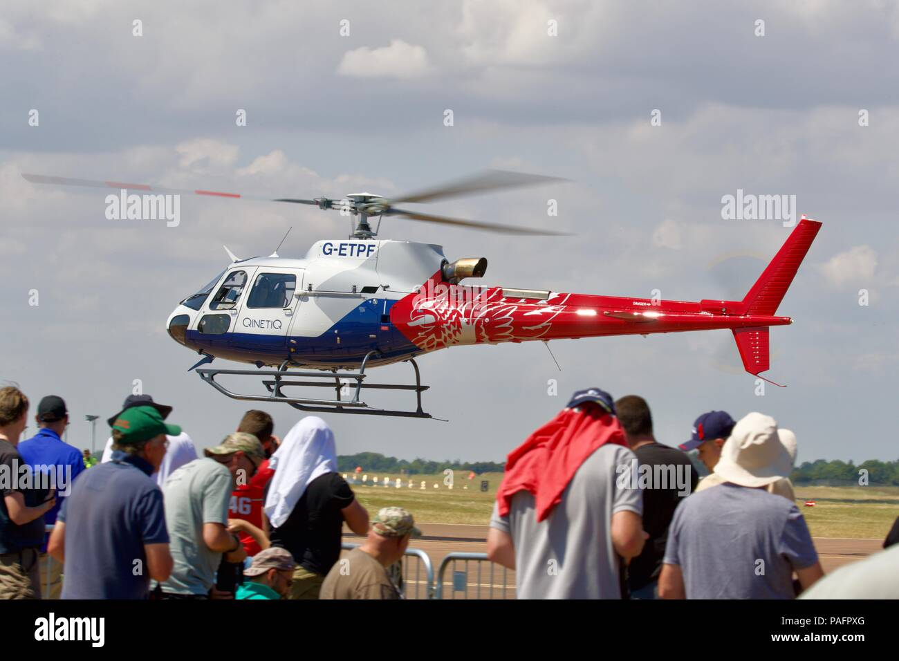 QinetiQ - Airbus H125 helicopter decorated in the new ETPS livery - Stock Image