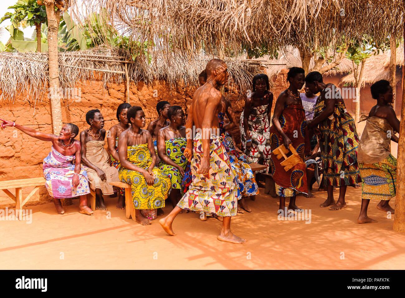 KARA, TOGO - MAR 11, 2012: Unidentified Togolese people