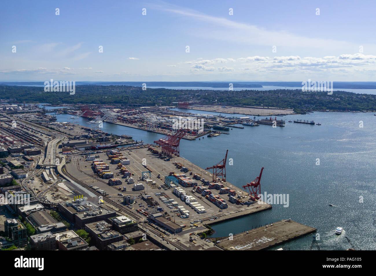 Aerial pictures of washington harbors Destruction Island Lighthouse, Washington at