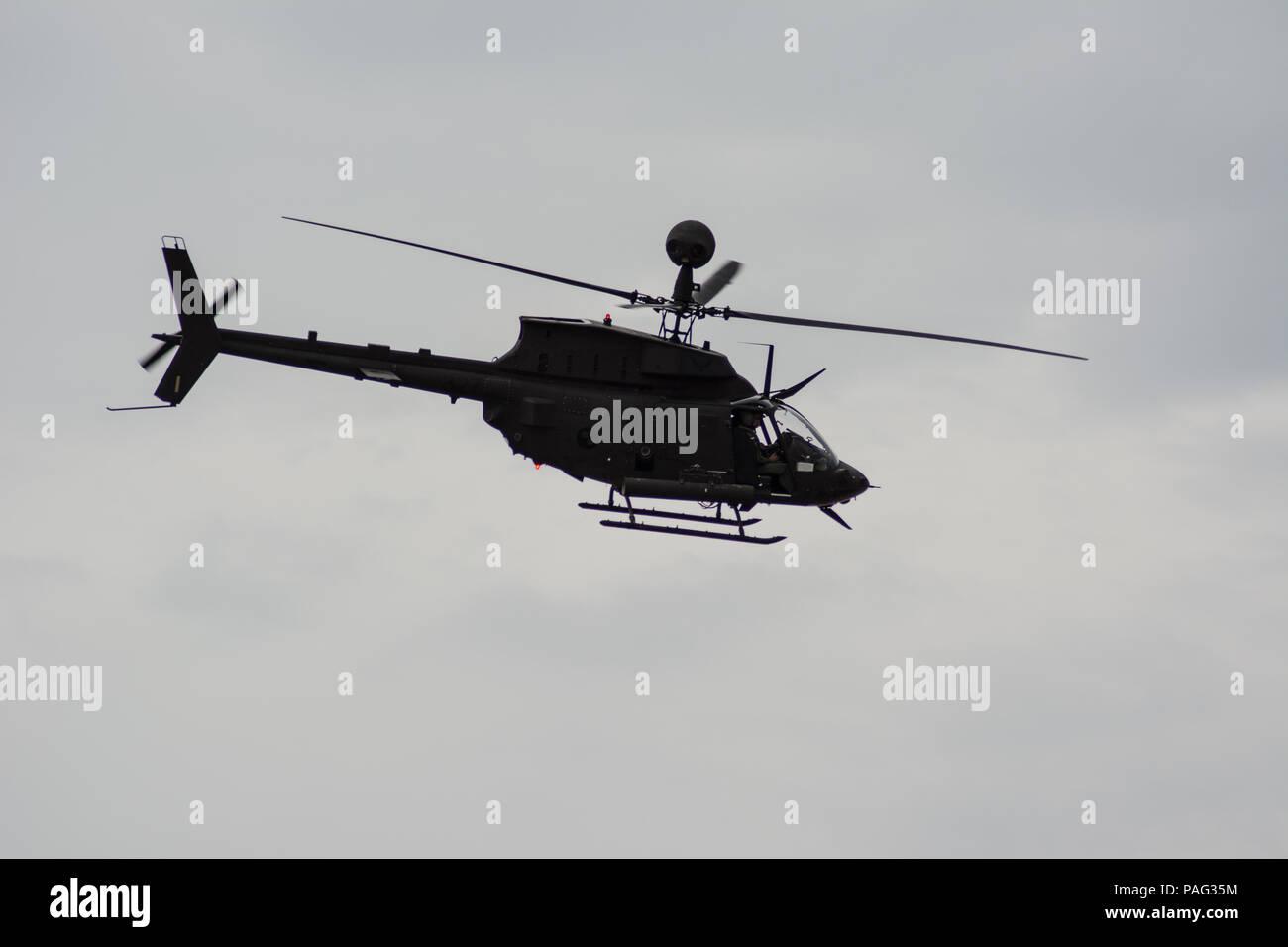 Kiowa warrior OH-58 D Croatian Air Force - Stock Image