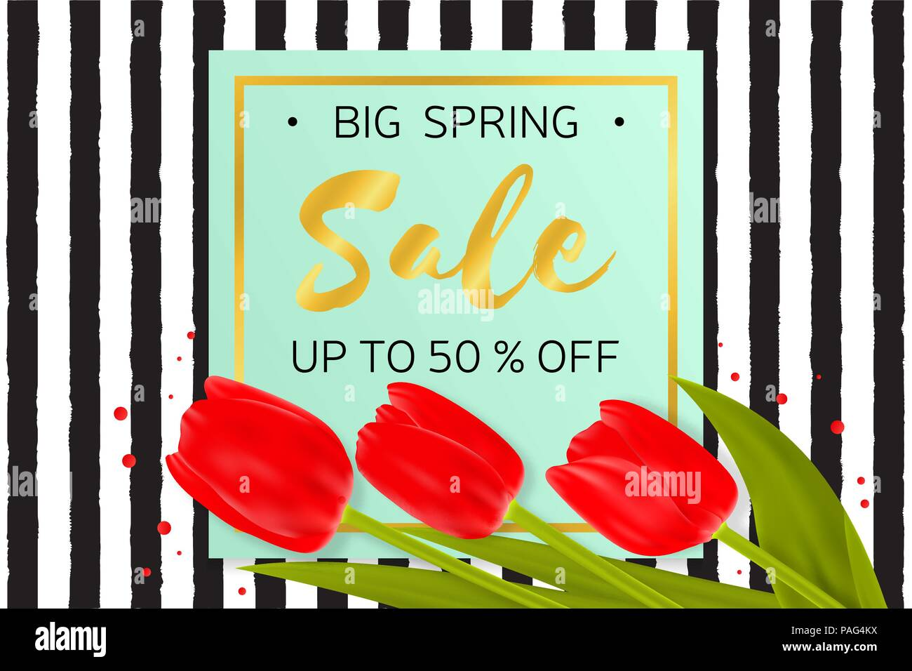 Vector illustration of stylish big spring sale background with vector illustration of stylish big spring sale background with beautiful flowers on the rough stripes background in memphis style for online shopping izmirmasajfo