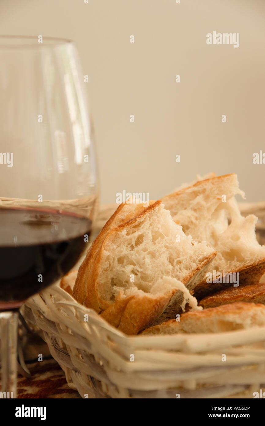 Communion Bread And Wine Stock Photos Communion Bread And Wine