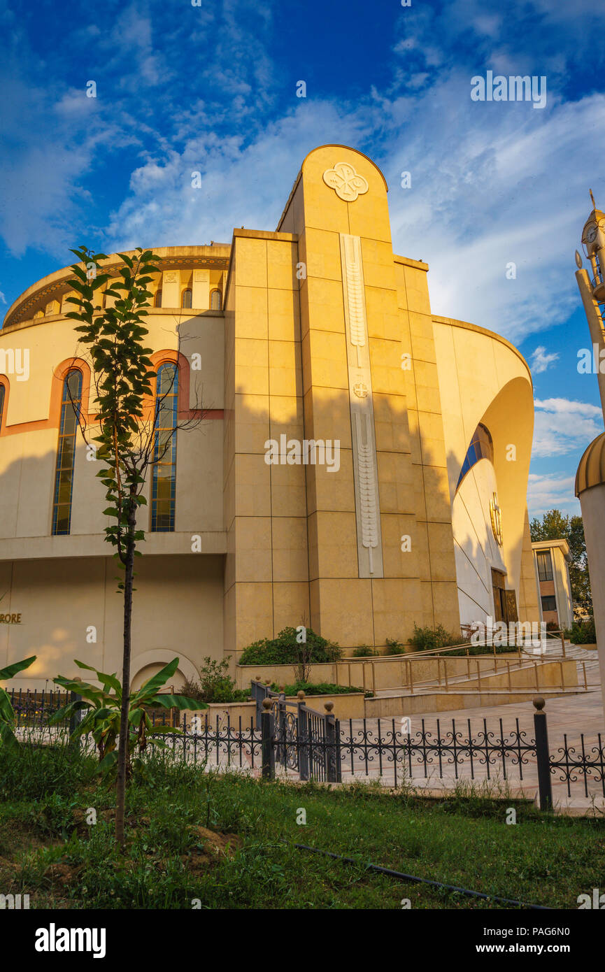 Resurrection of Christ Orthodox Cathedral in Tirana. Tirana is capital of Albania, Southeastern Europe - Stock Image