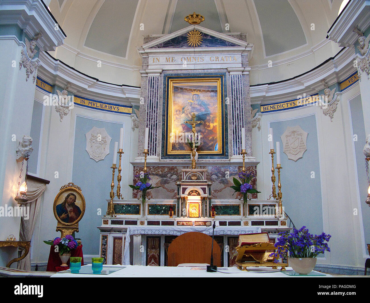 Inside the church Chiesa della Madonna delle Grazie, Procida, Gulf of Naples, Italy Stock Photo