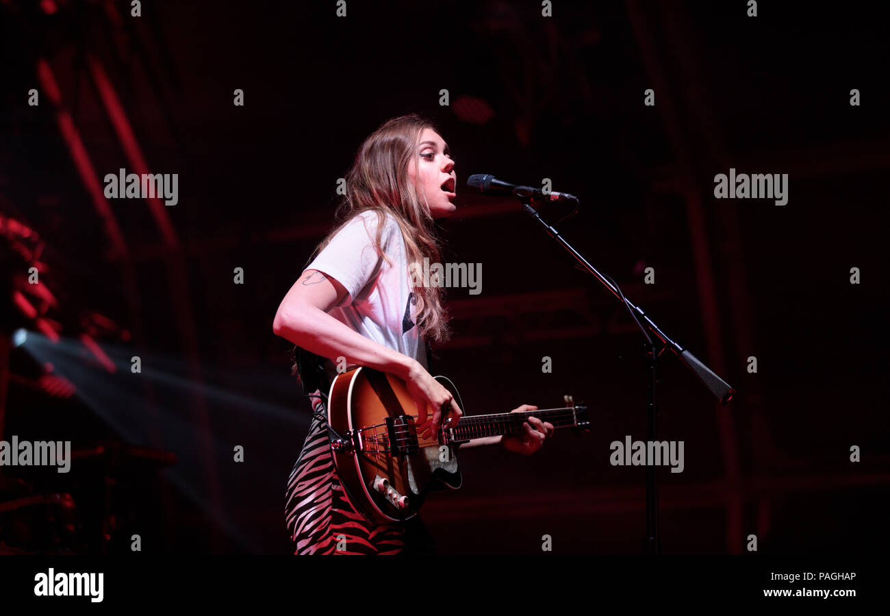 Dorset, UK. 22nd July, 2018. first aid kit playing the Larmer tree 2018 on the 21st of July 2018 Credit: Paul Bevan/Alamy Live News - Stock Image
