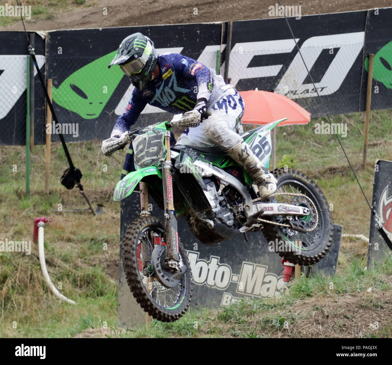 Loket, Czech Republic. 22nd July, 2018. Clement DESALLE (BEL/Monster Energy Kawasaki Racing Team), .Motocross World Championship, MX 1, first race, .Loket, Czech Republic, July 22, 2018, Credit: Wolfgang Fehrmann/ZUMA Wire/Alamy Live News Stock Photo