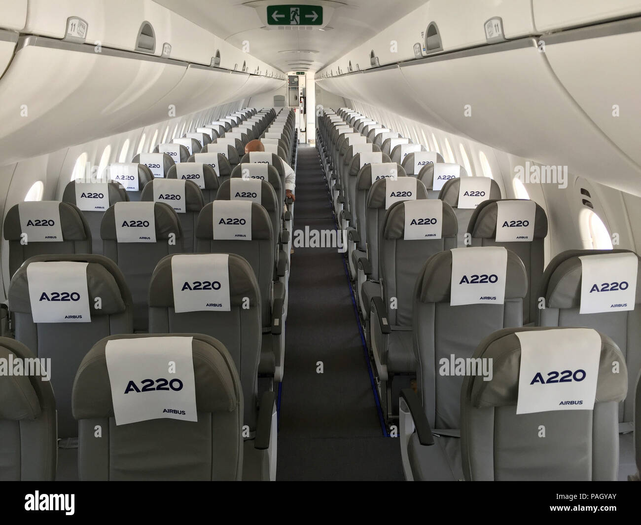 Toulouse, France. 10th July, 2018. View of the cabin interior of a ...