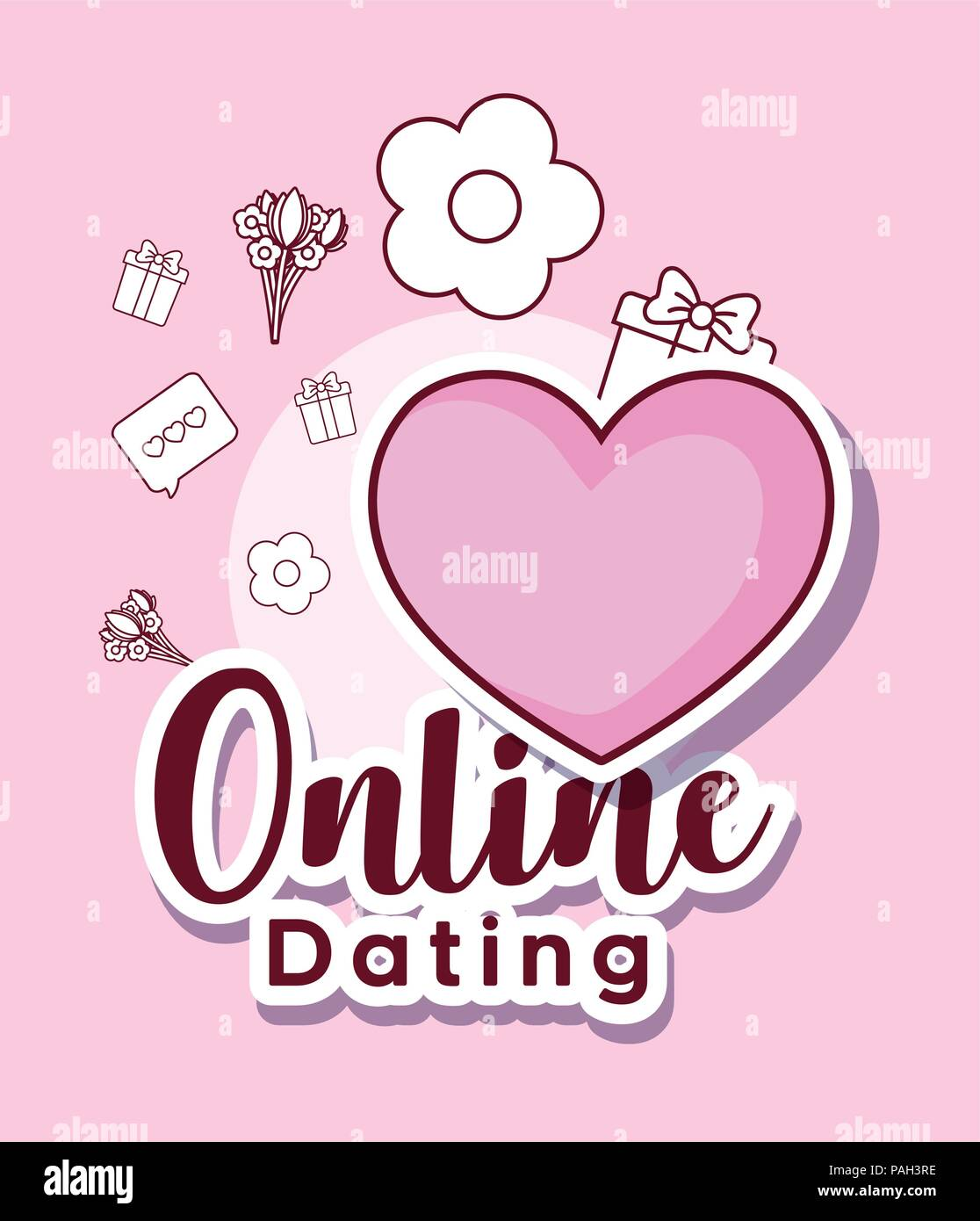 dating site with heart icon