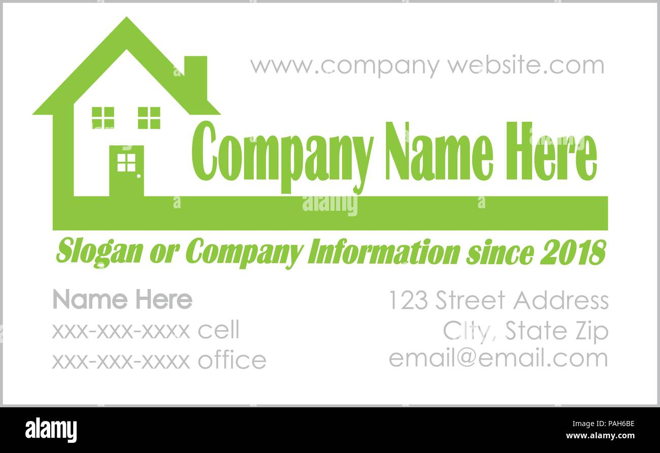 real estate business card template stock vector art illustration