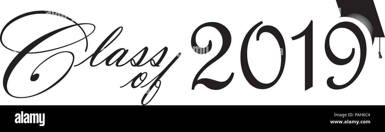 class of 2019 banner logo stock vector art illustration vector