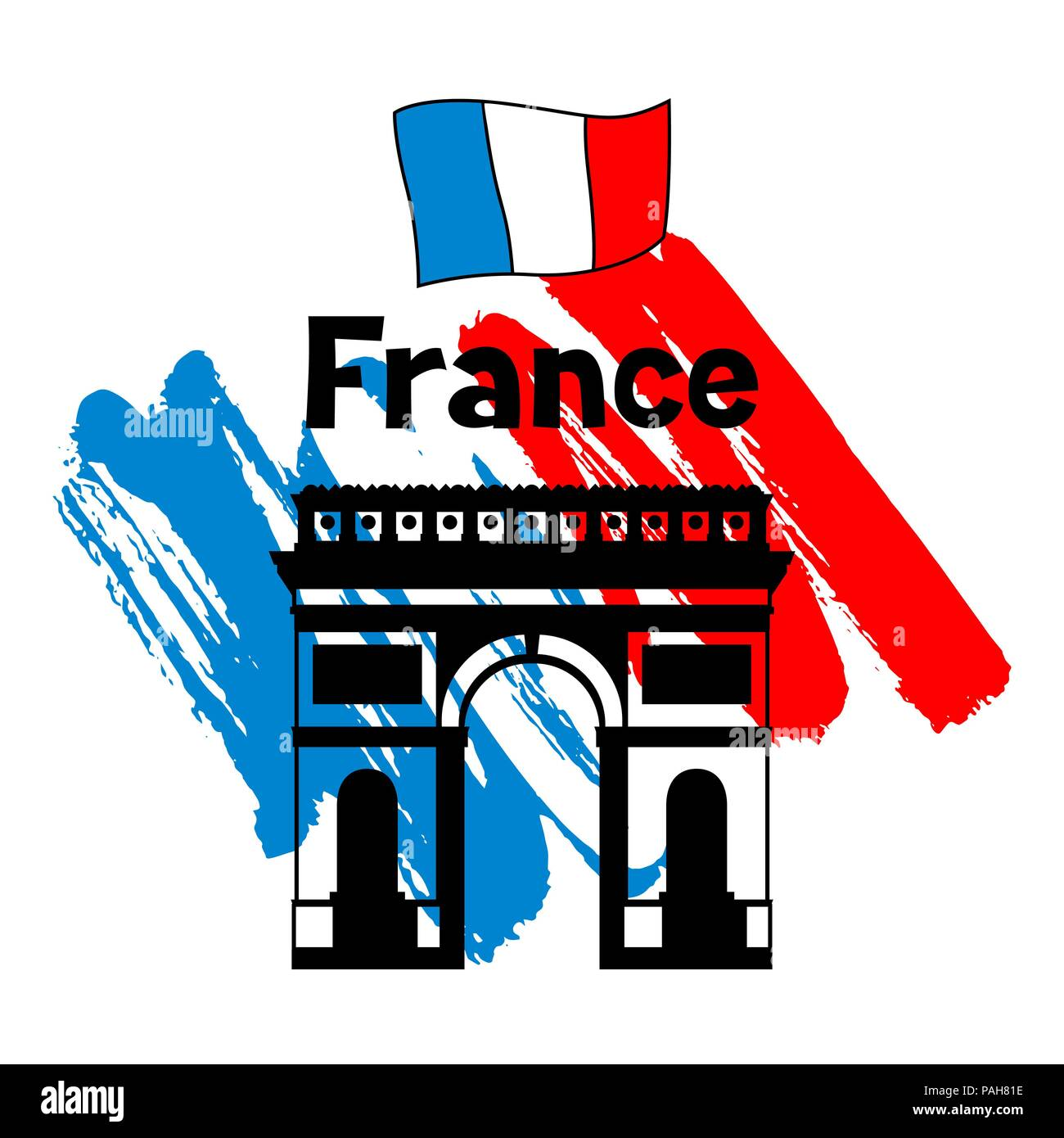 France background design. - Stock Image