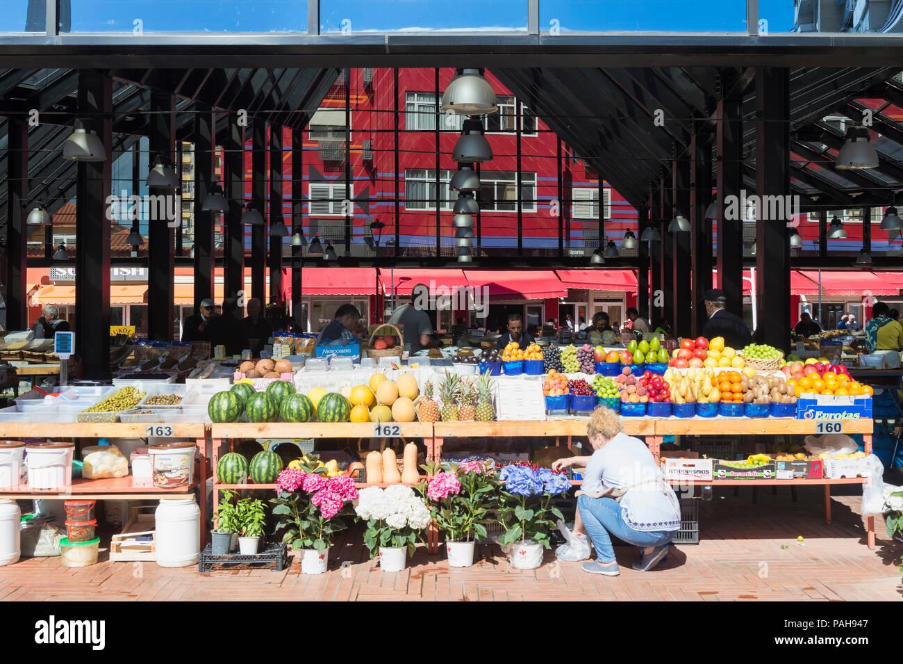 New bazar, Market stalls, Tirana, Albania - Stock Image