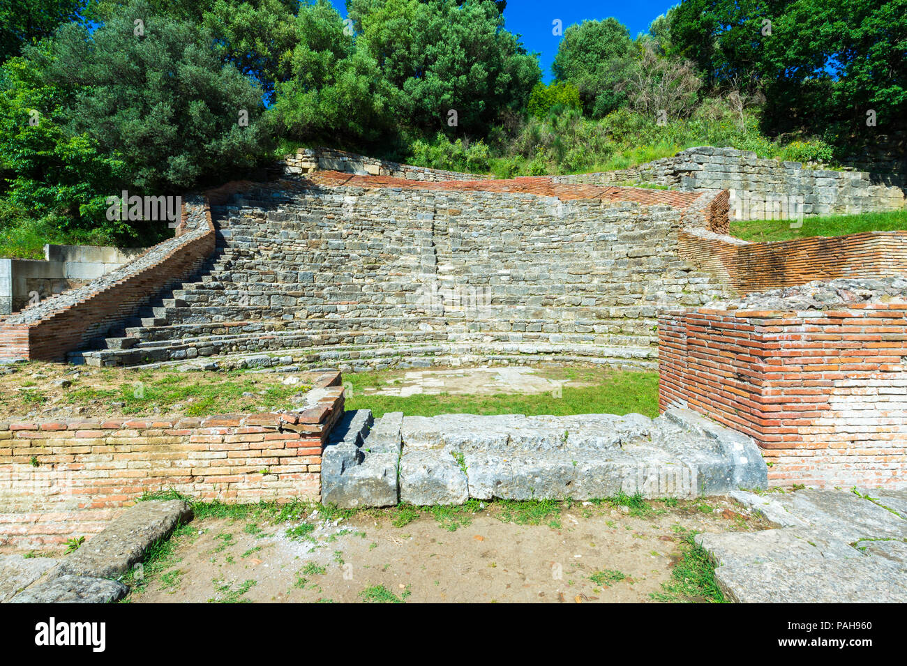 Odeon theater, Apollonia Archaeological Park, Pojani Village, Illyria, Albania - Stock Image