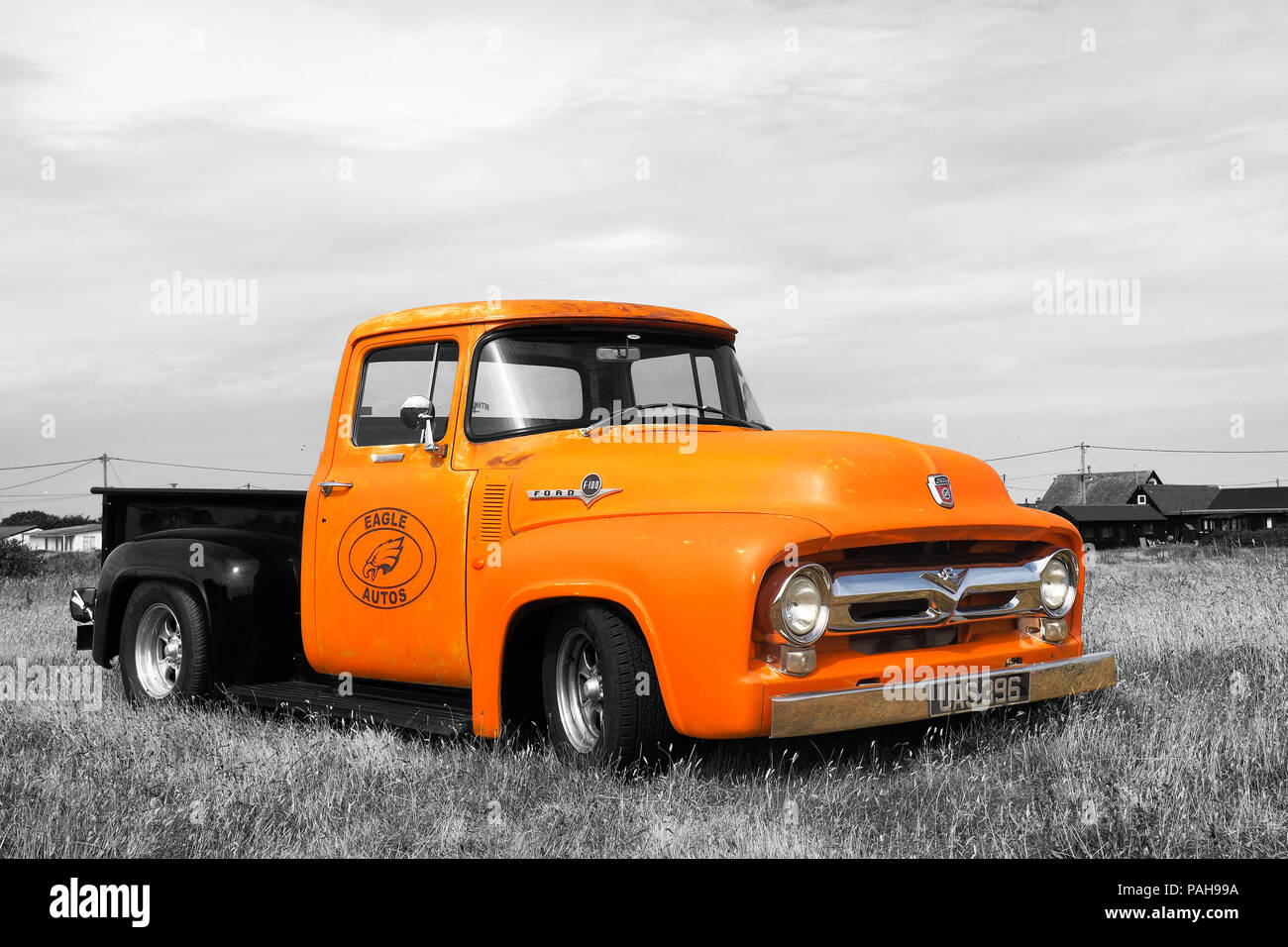 1956 Ford F100 Pick up Truck - Stock Image