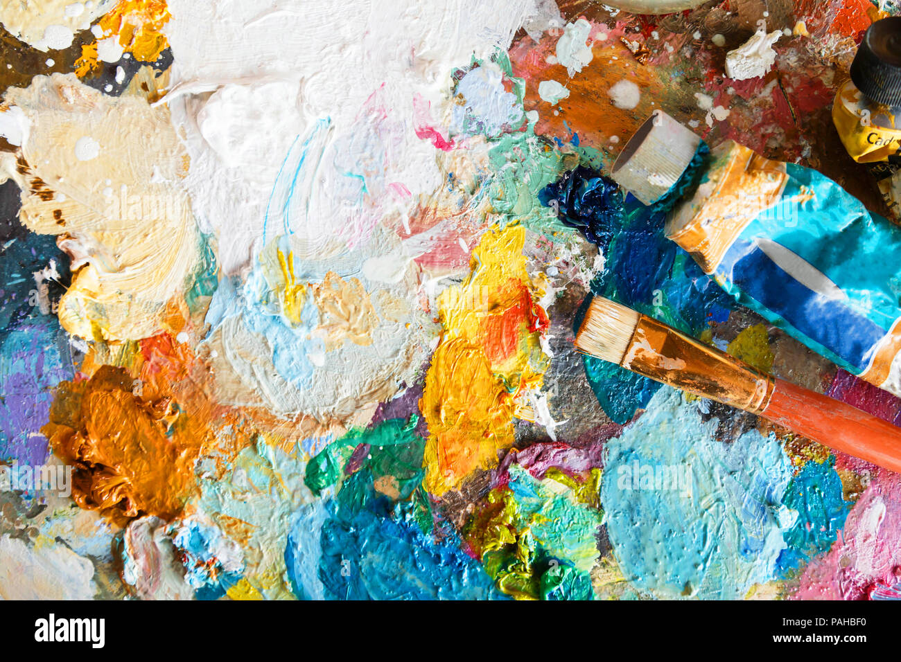 Abstract art background, oil painting on canvas