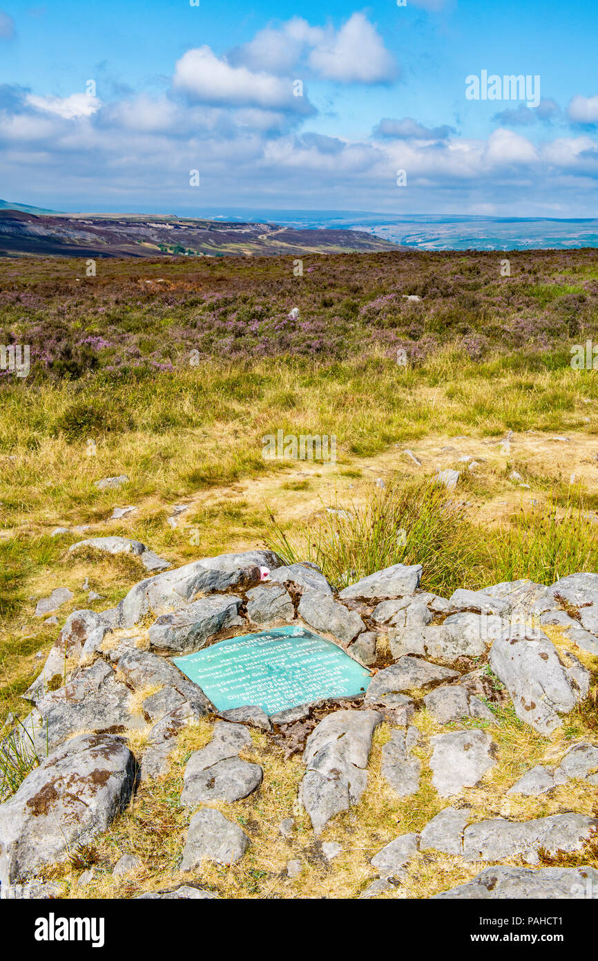 Foxhunter's Grave on the Blorenge, Brecon Beacons - Stock Image
