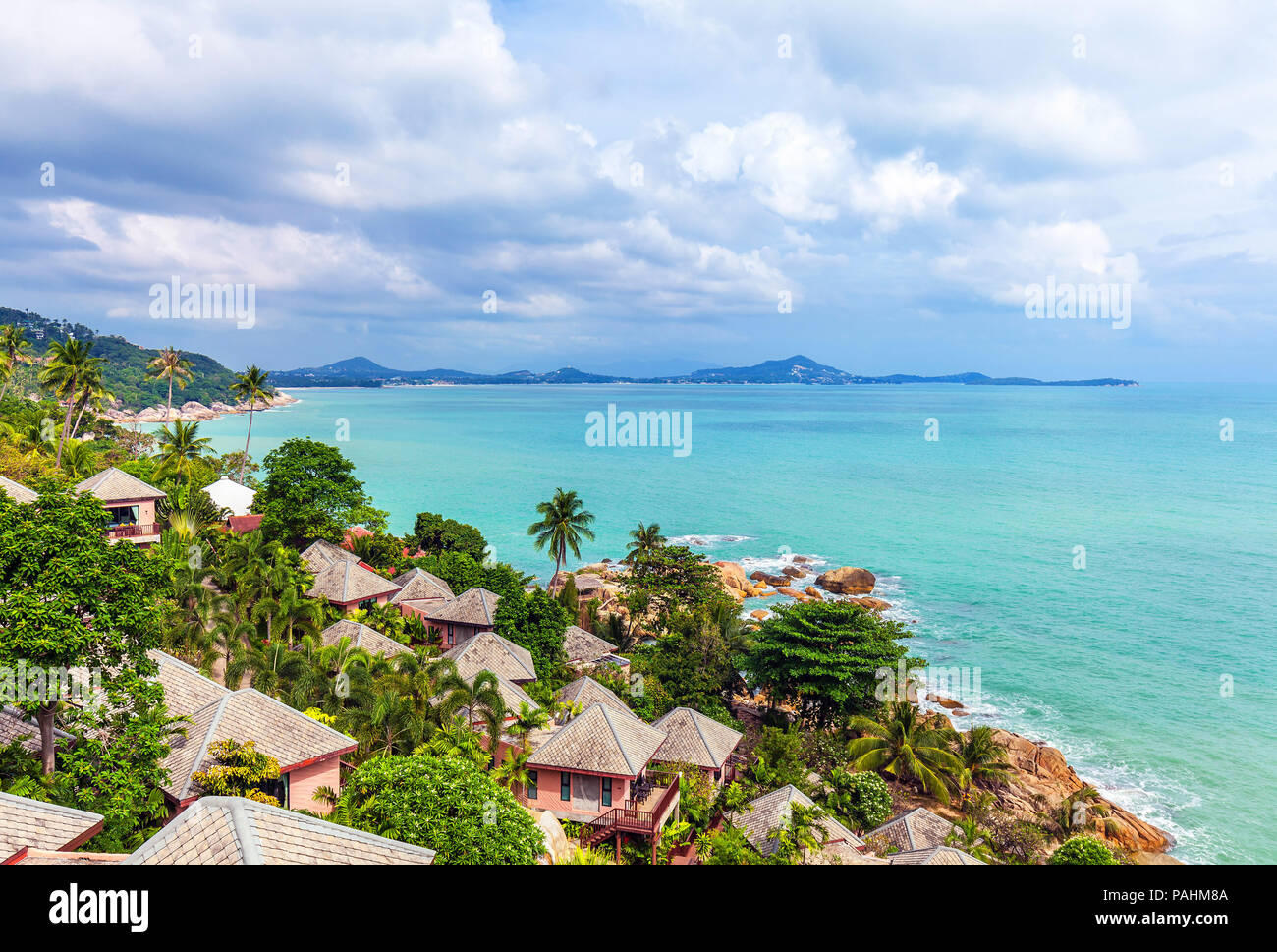 Beautiful views of the coast of Koh Samui in Thailand. - Stock Image