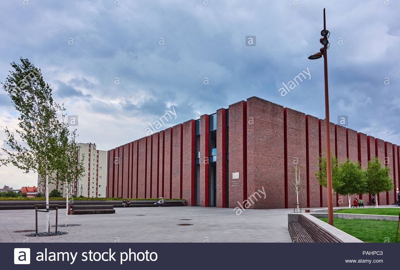 KATOWICE, POLAND- JULY 13, 2018: New seat of Polish National Radio Symphony Orchestra on 13 July 2018 in Katowice, The new building is located in the  Stock Photo