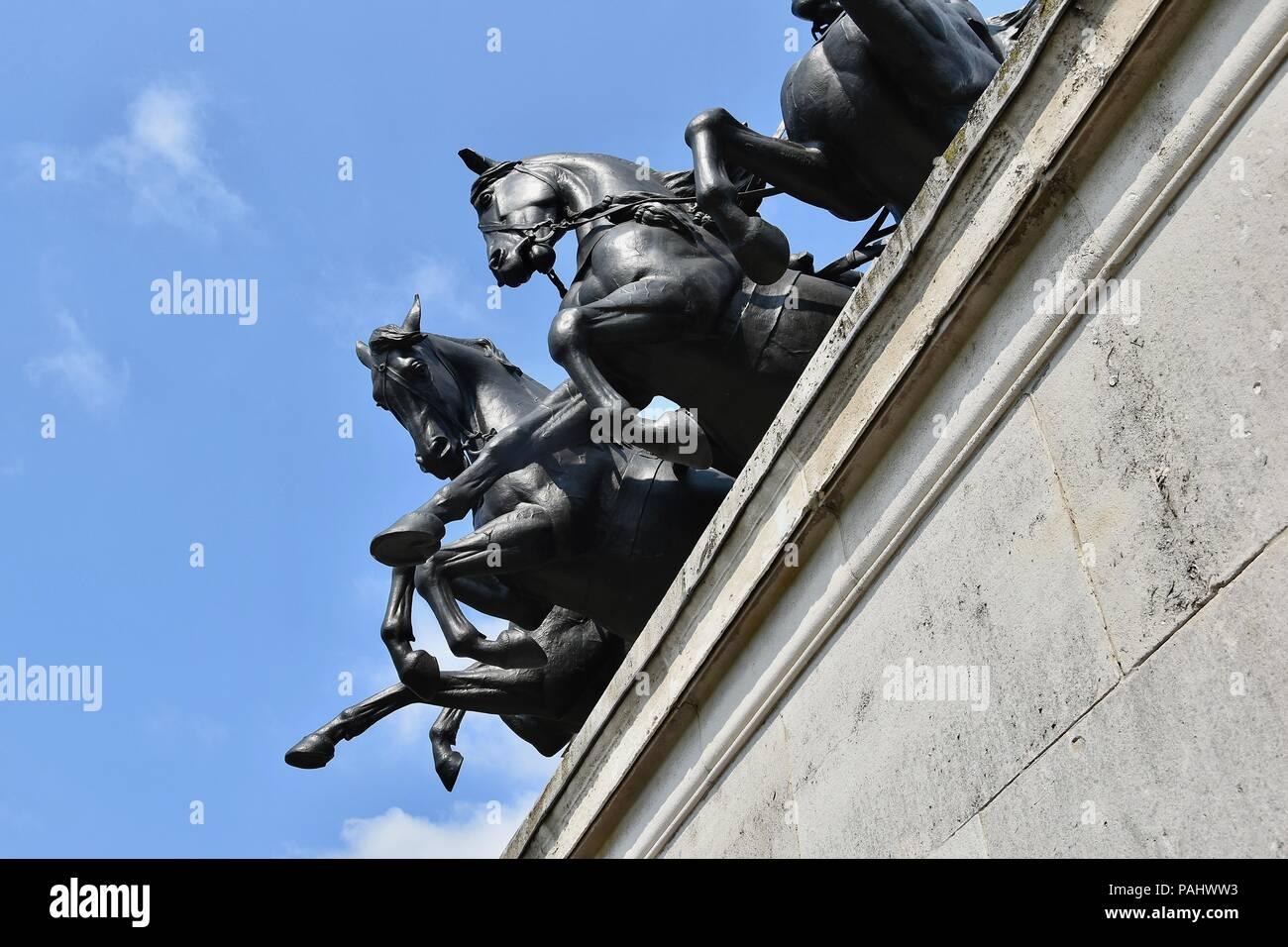 Wellington Arch, Hyde Park Corner, London, U.K. - Stock Image