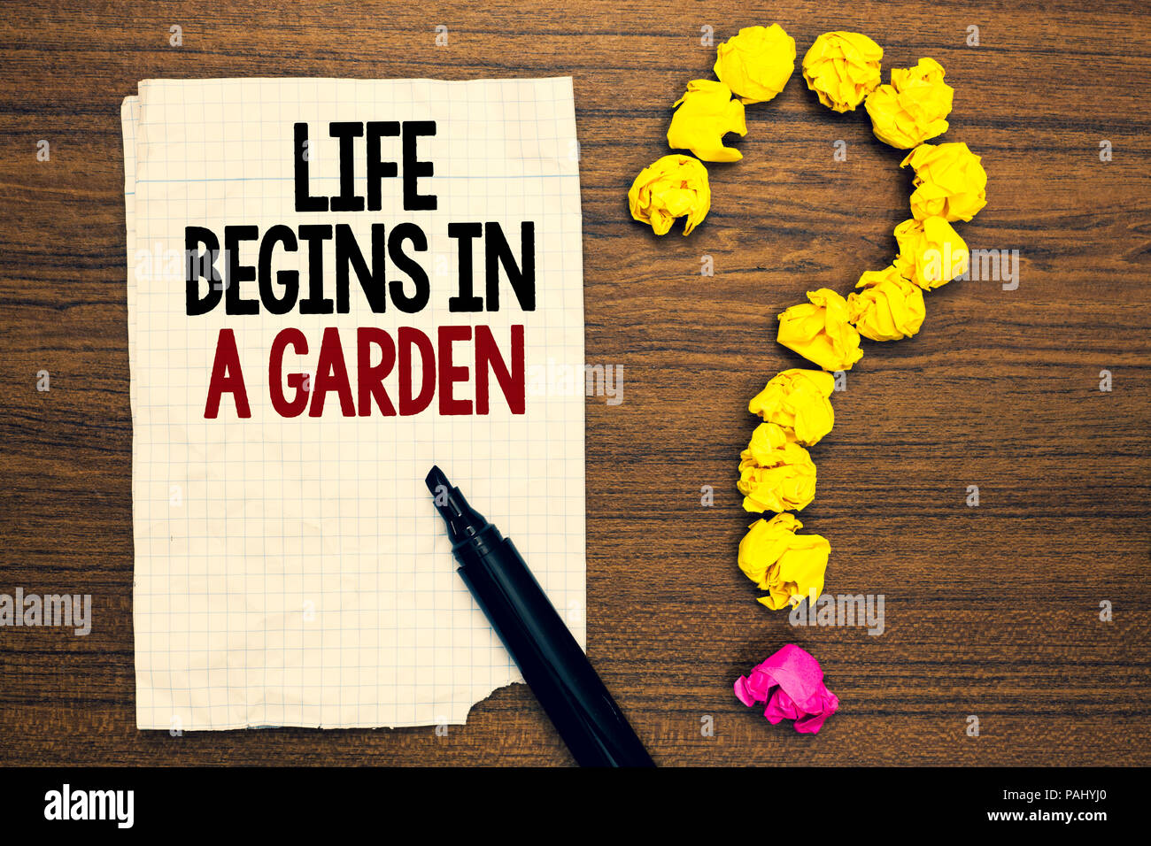 Word writing text Life Begins In A Garden. Business concept for ...
