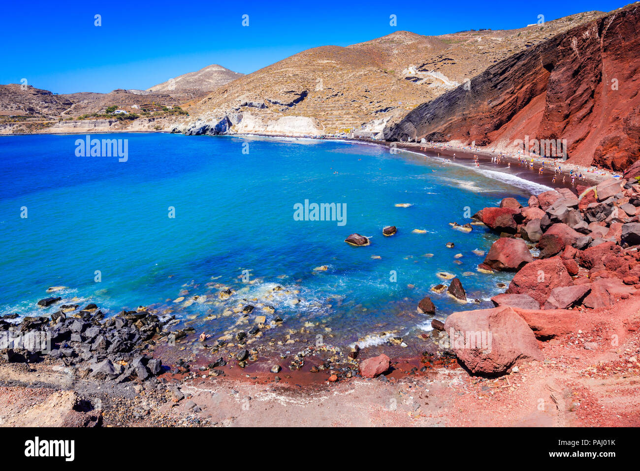 Santorini Greece Red Beach Is One Of The Most Beautiful