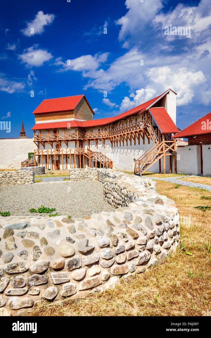 Feldioara, Romania. Medieval fortress Marienburg in Transylvania, Brasov county. - Stock Image