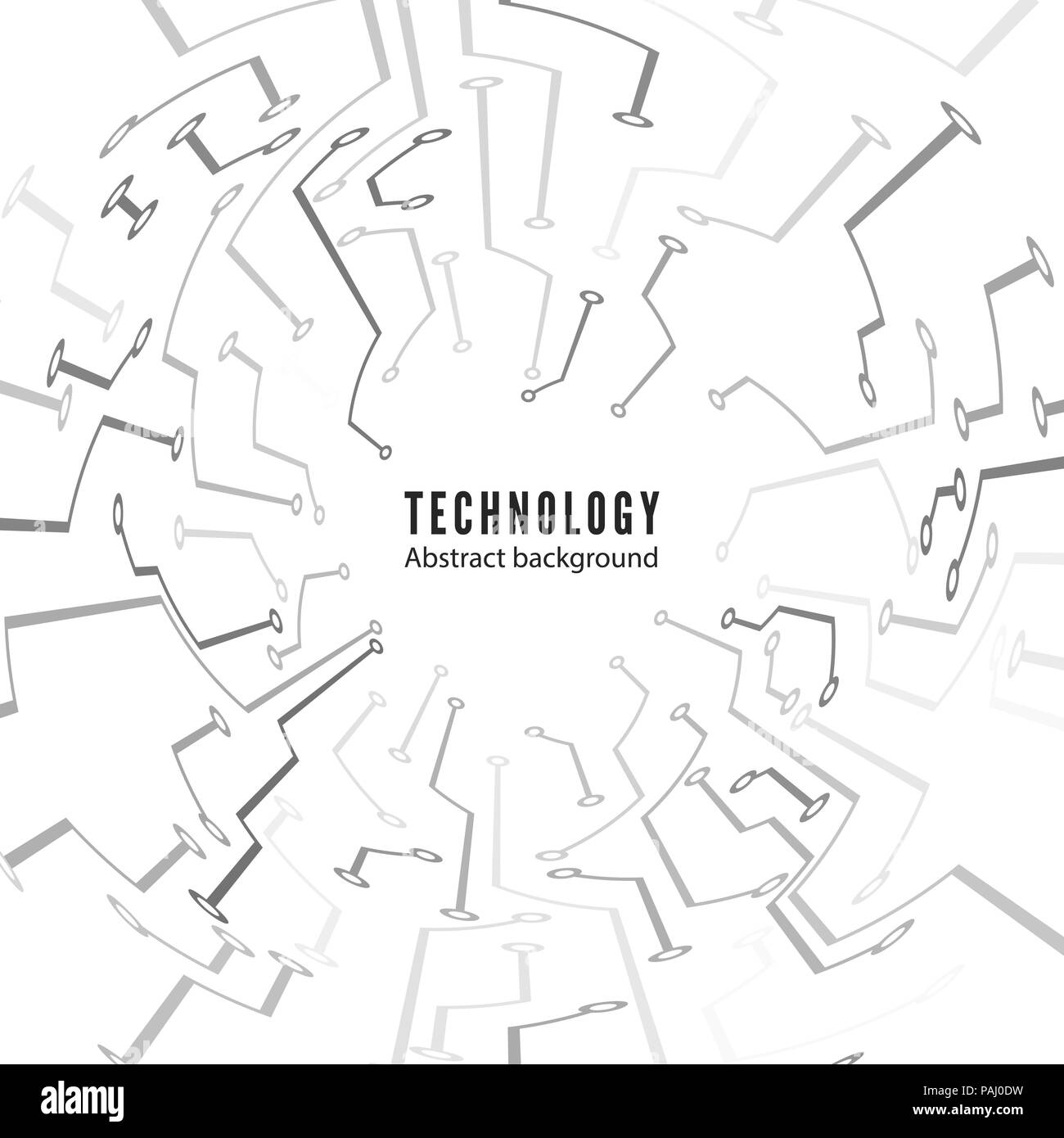 Abstract Technology Circuit Board Background Motherboard Texture Electronic Tracks Vector Illustration