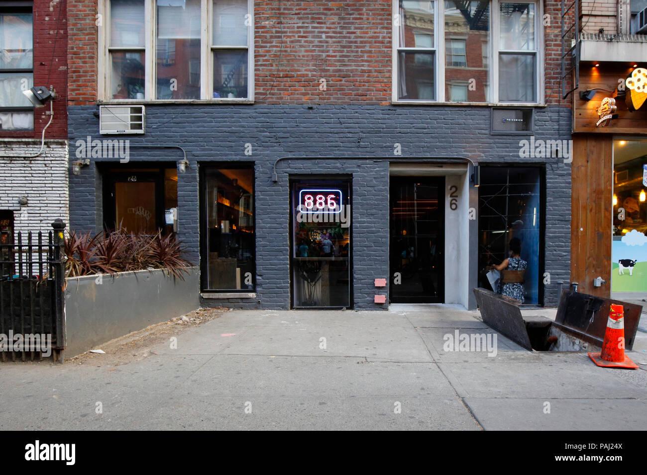 886, 26 St Marks Pl, New York, NY - Stock Image