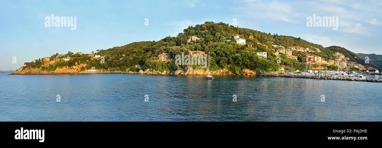 View of Porto Santo Stefano - Grosseto, Italy - Stock Image