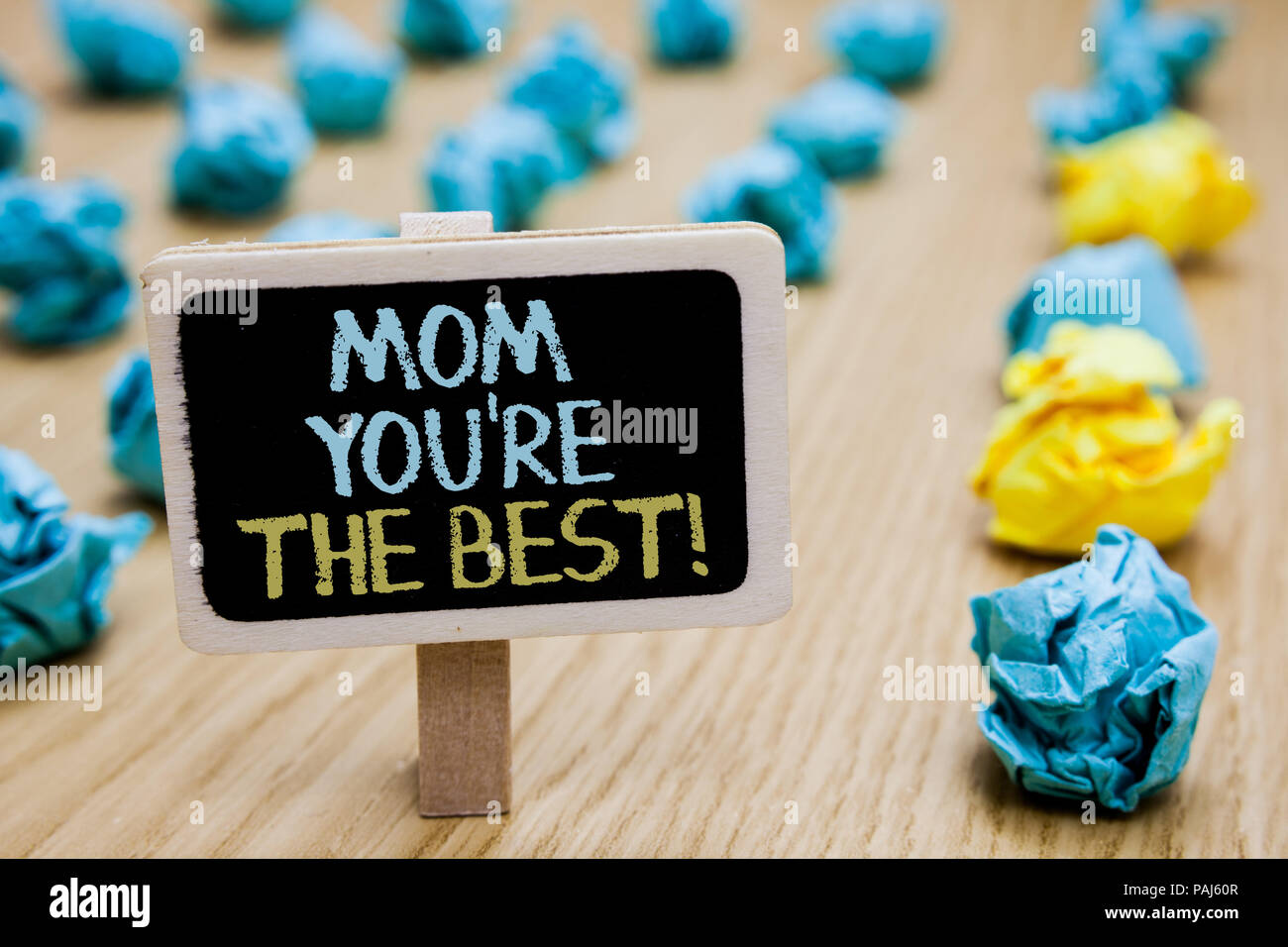 conceptual hand writing showing mom you re are the best business