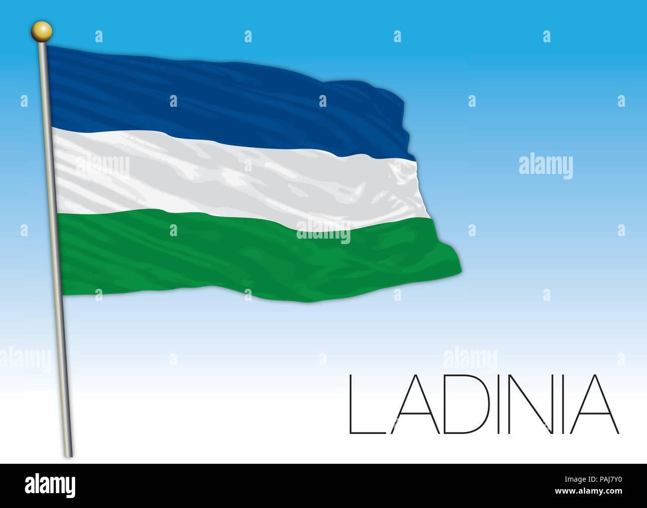 Ladinia regional flag, Italy - Stock Vector