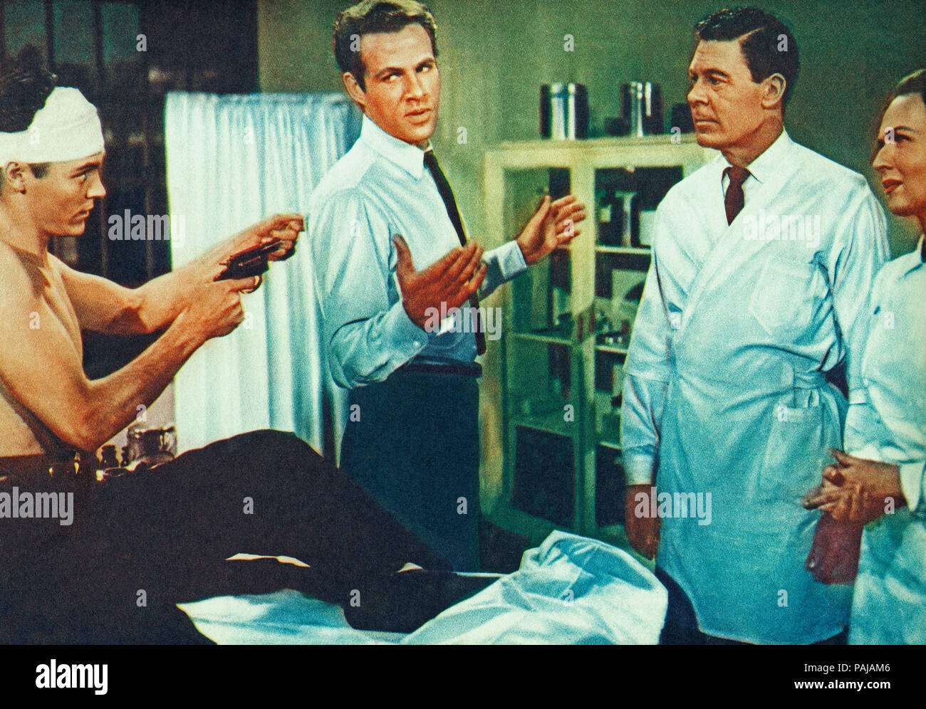 Emergency Hospital, USA 1956, Regie: Lee Sholem, Darsteller: Walter Reed, Margaret Lindsay, John Archer - Stock Image
