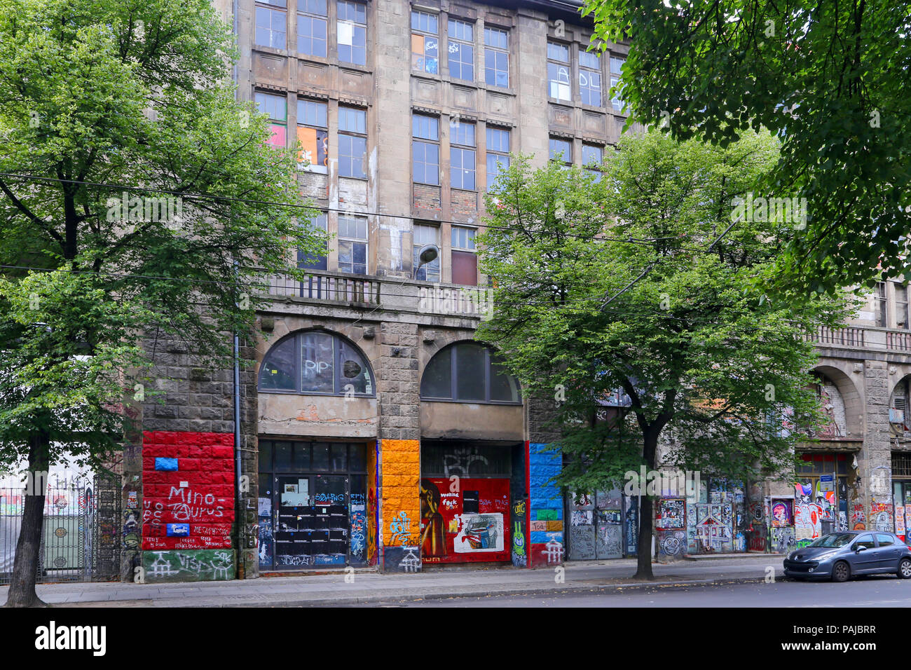 BERLIN, GERMANY - JULY 25: street view in Hackescher Market on July 25, 2015 in Berlin, Germany. - Stock Image