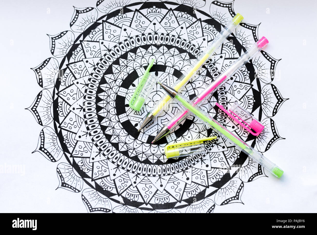 Adult Coloring Book New Stress Relieving Trend Art Therapy Mental Health Creativity