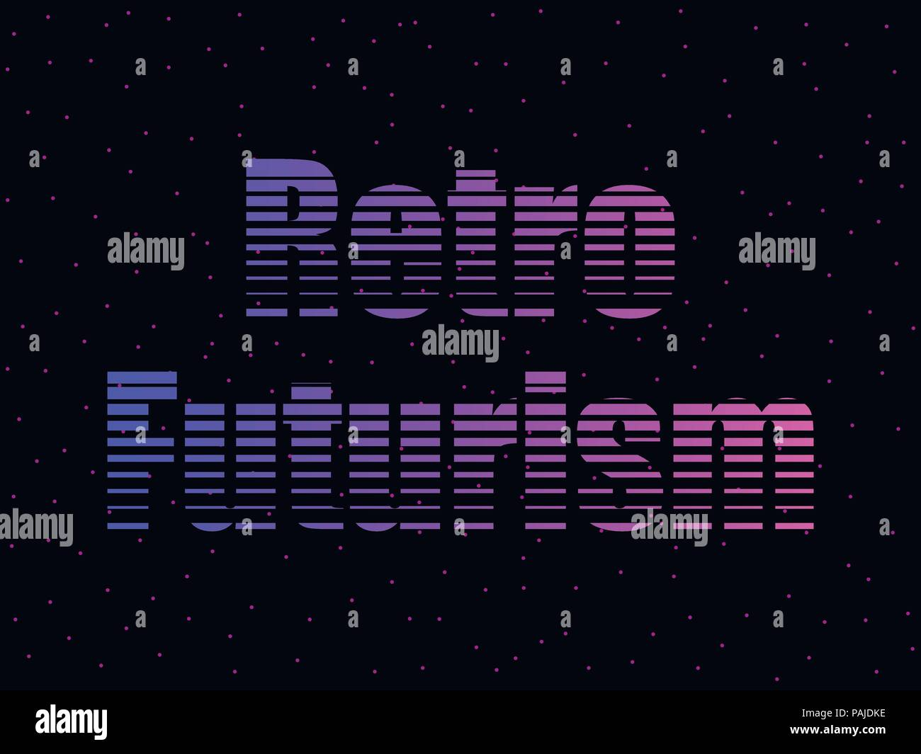 Retro futurism text in the 80s style, letters against the background