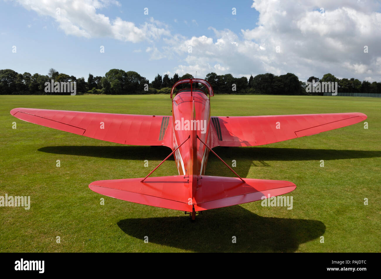Tipsy Belfair parked on grass at the Duke of York's Royal-Military-School, Dover, UK, during the Bleriot 100th Anniversary airshow Stock Photo