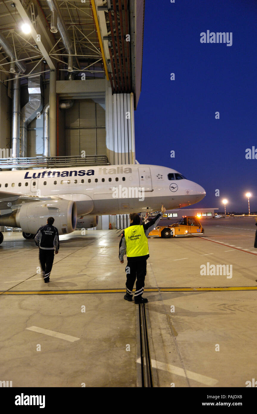 at the official opening ceremony of the Lufthansa Technik Milan LTMIL maintenance hangars on 15th October 2009 - Stock Image