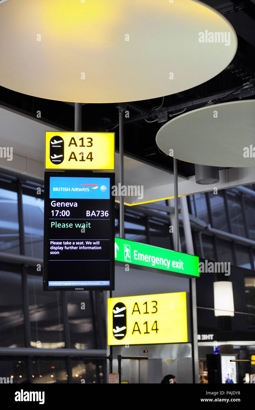 Terminal5 Heathrow Stock Photo