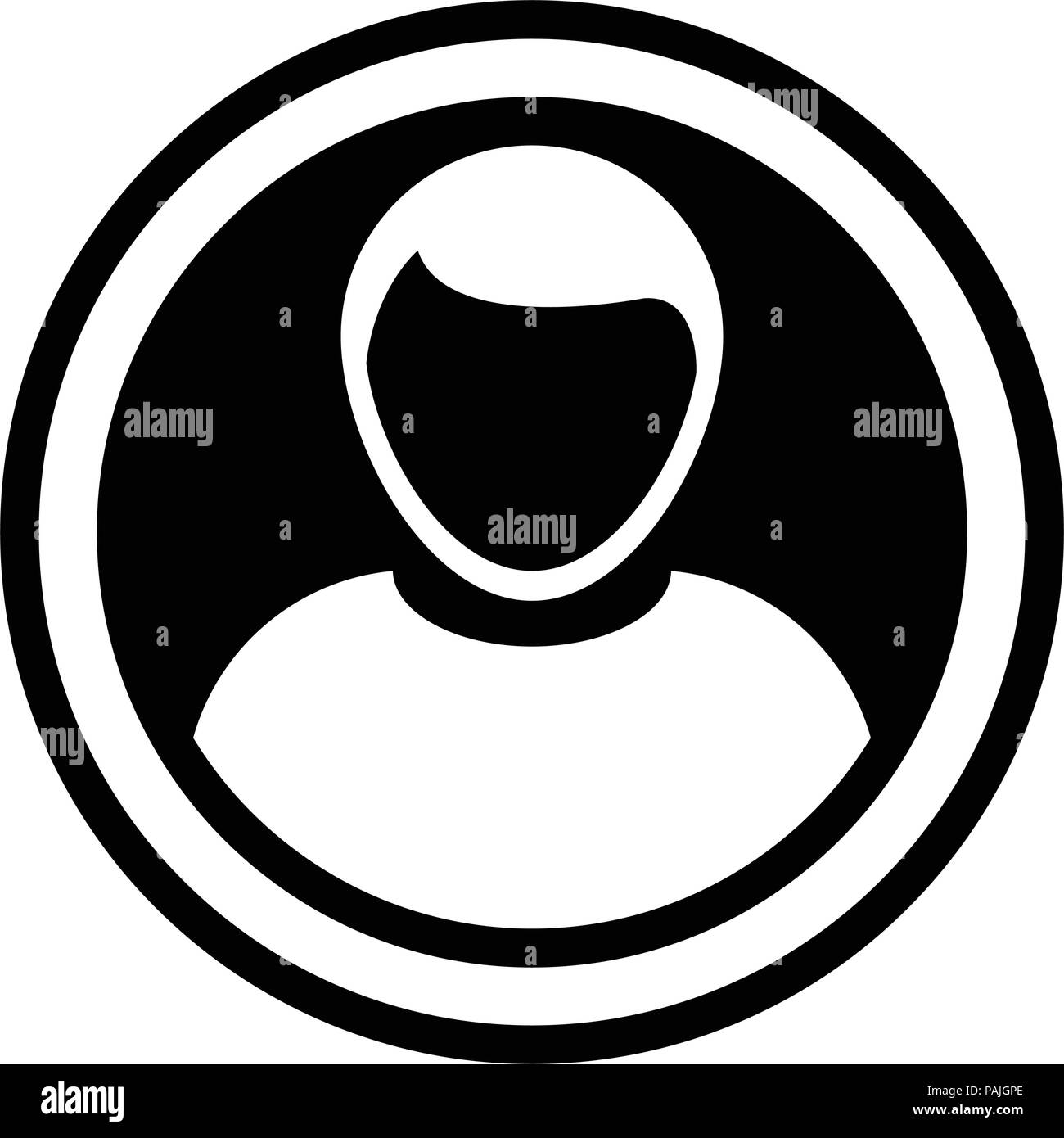 Avatar icon vector male person symbol circle user profile avatar sign in flat color glyph pictogram illustration - Stock Image