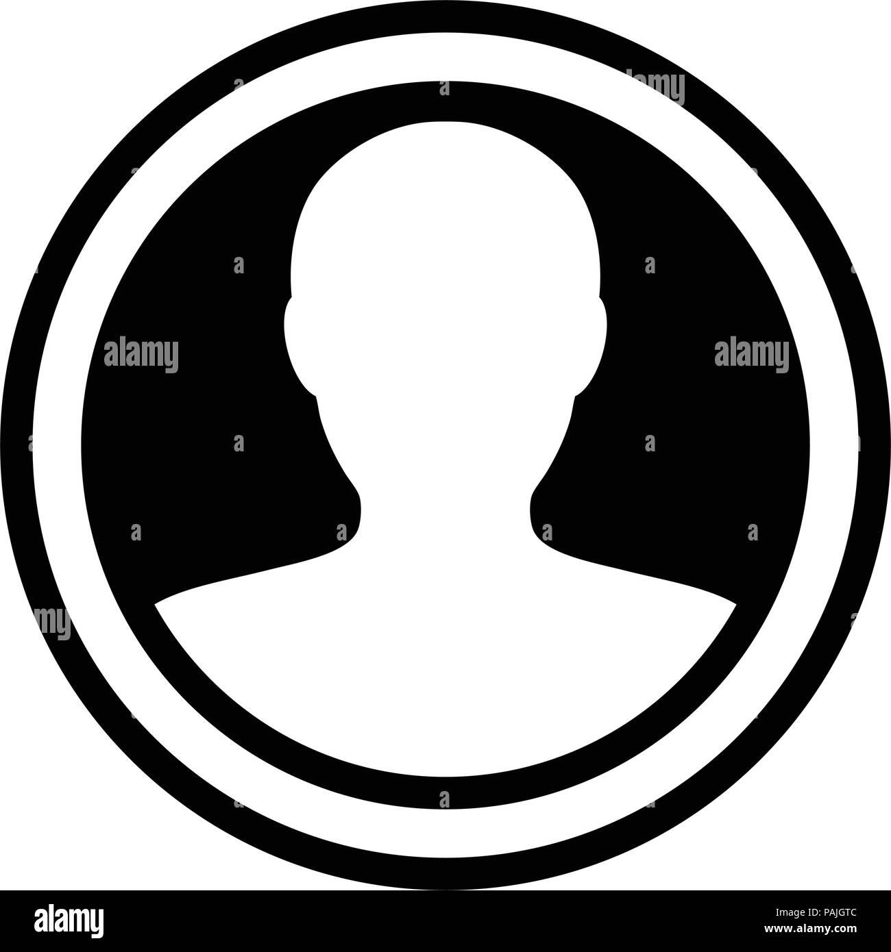 Avatar icon vector male person symbol circle user profile avatar