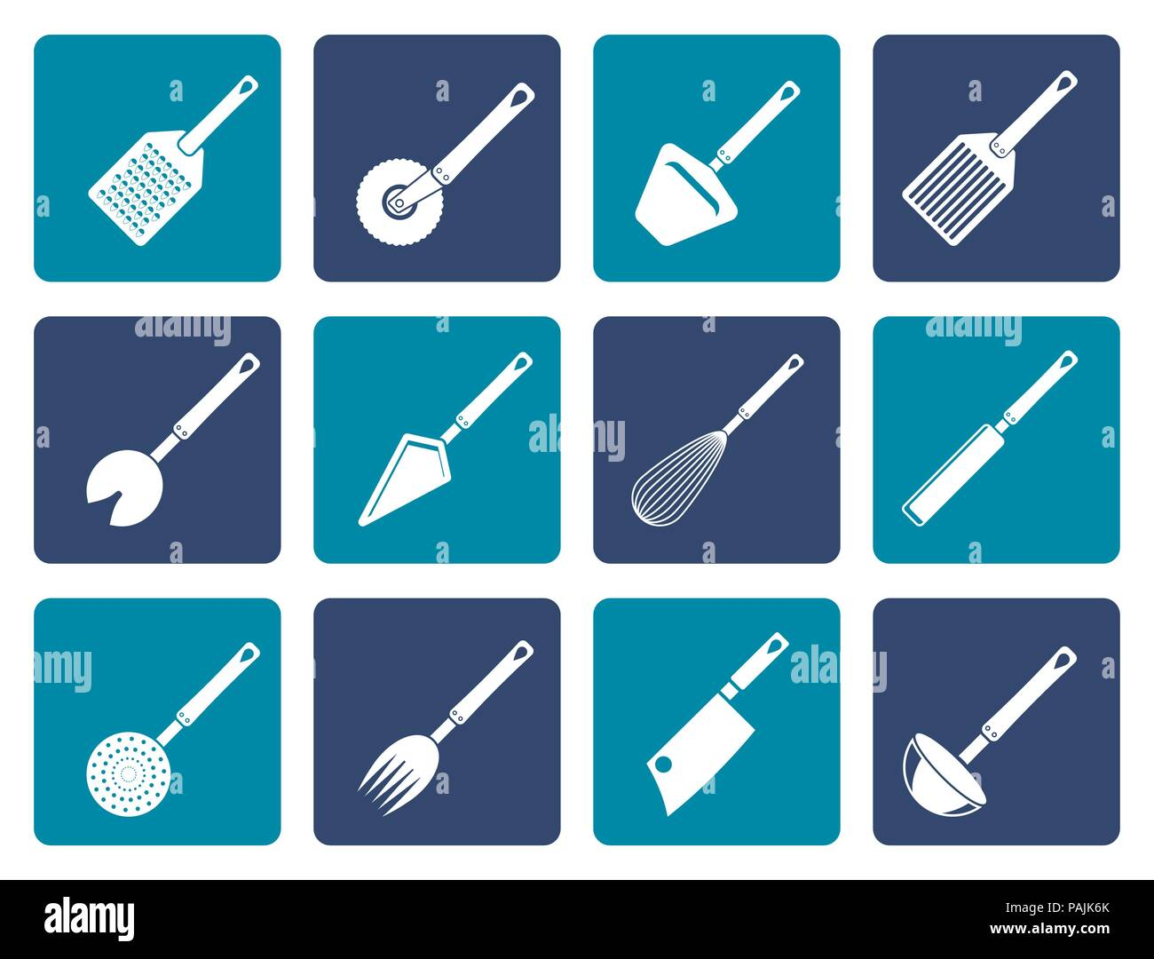 Kitchen Accessories Stock Vector Images - Alamy