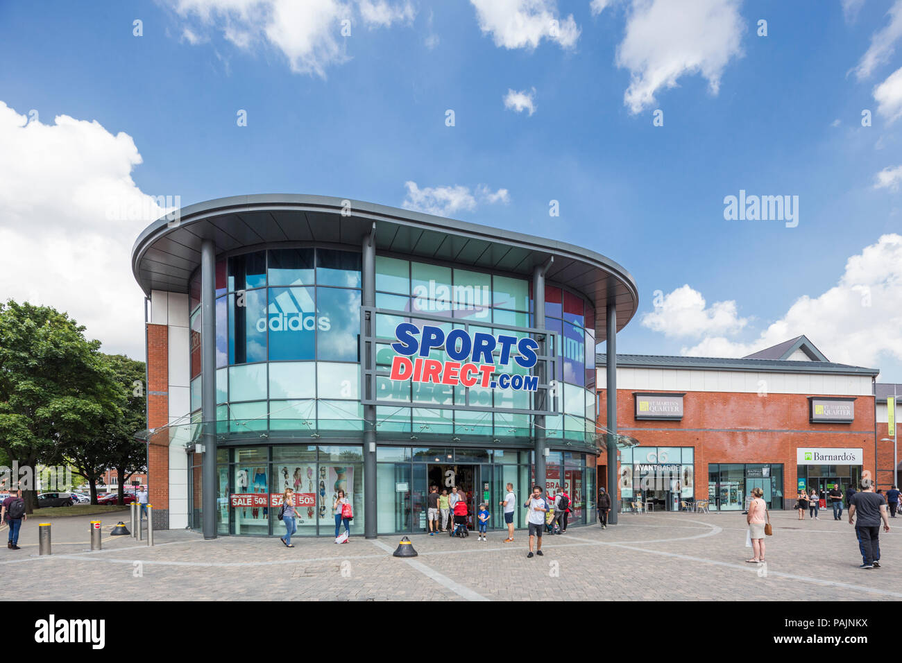 Sports Direct high street store, Worcester,  England, UK - Stock Image
