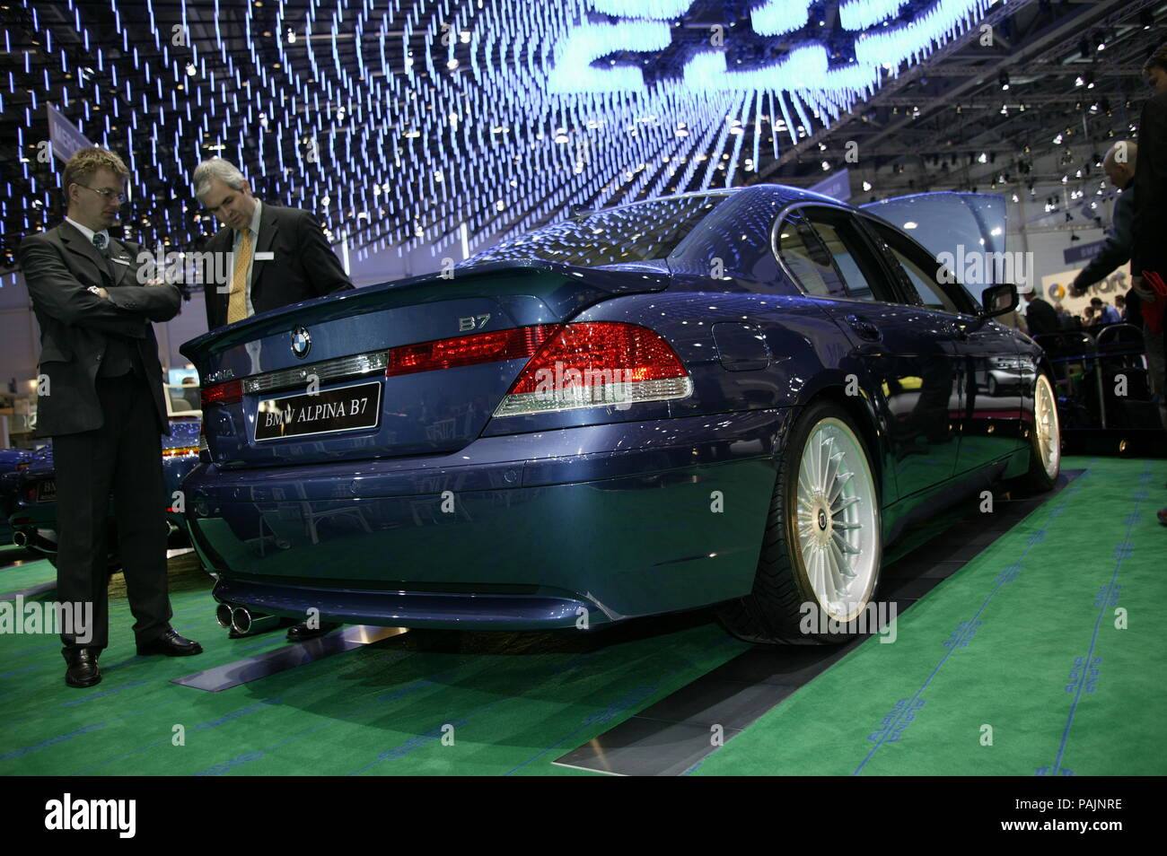 BMW Alpina B7 Sports car modified as shown at frankfurt motorshow 2003 - Stock Image