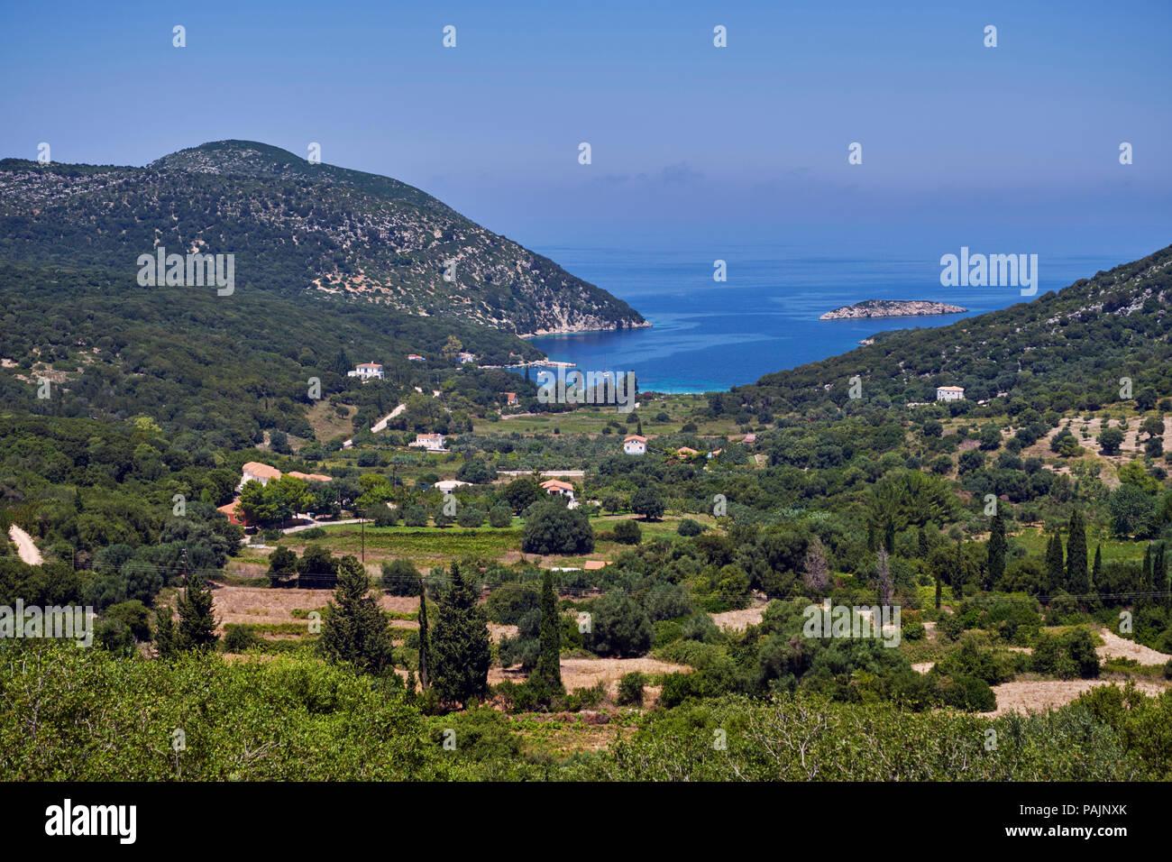 Atheras Bay on the Paliki Peninsula. Cephalonia, Ionian Islands, Greece. - Stock Image