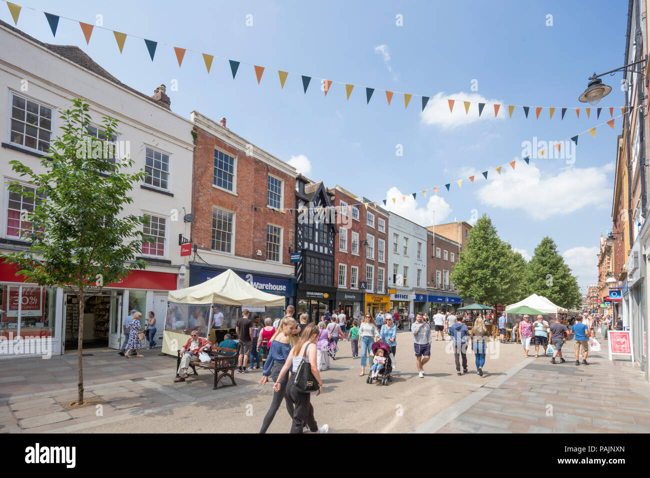 Worcester city high street, England, UK - Stock Image