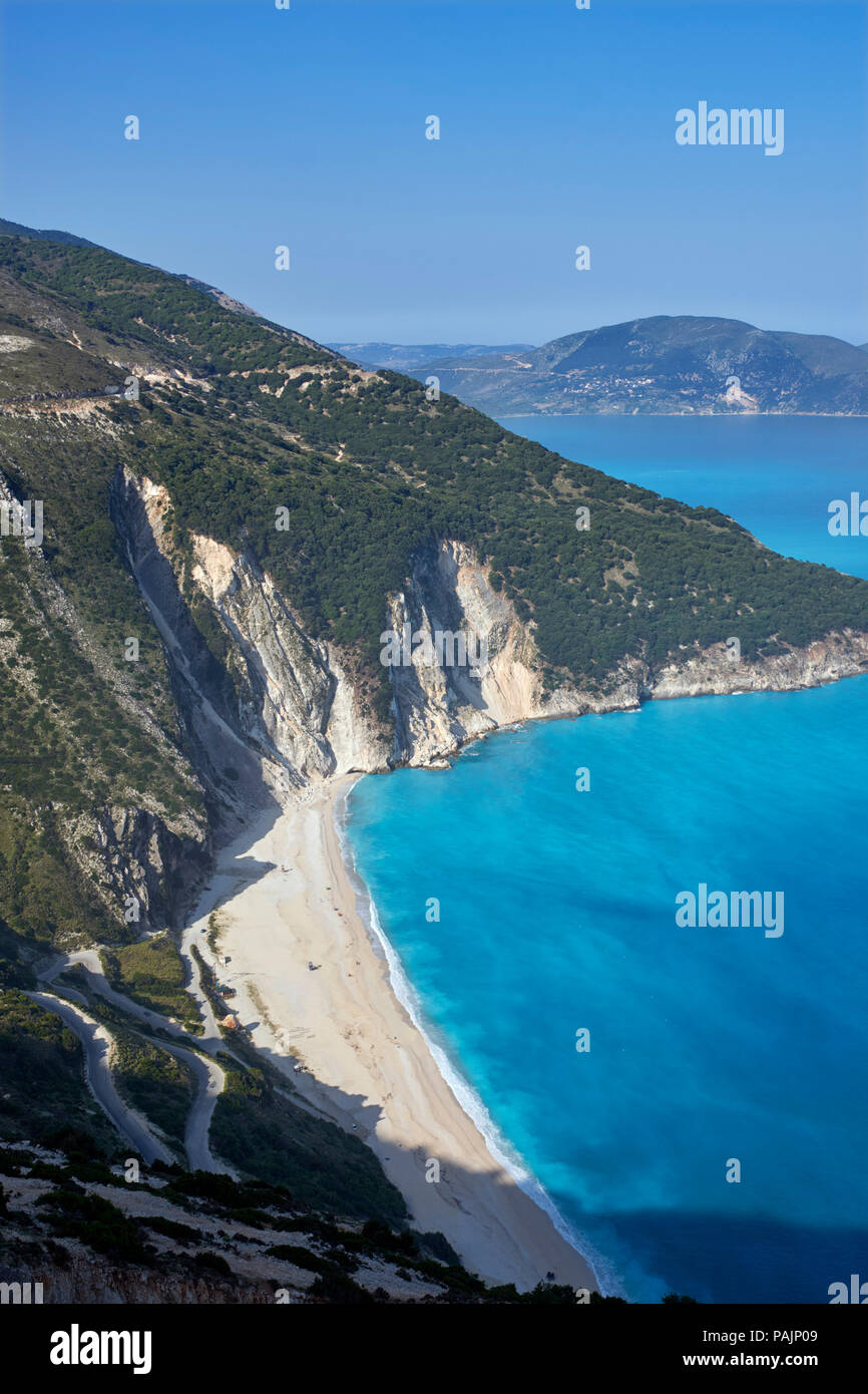 Myrtos Beach.  Cephalonia, Ionian Islands, Greece. - Stock Image